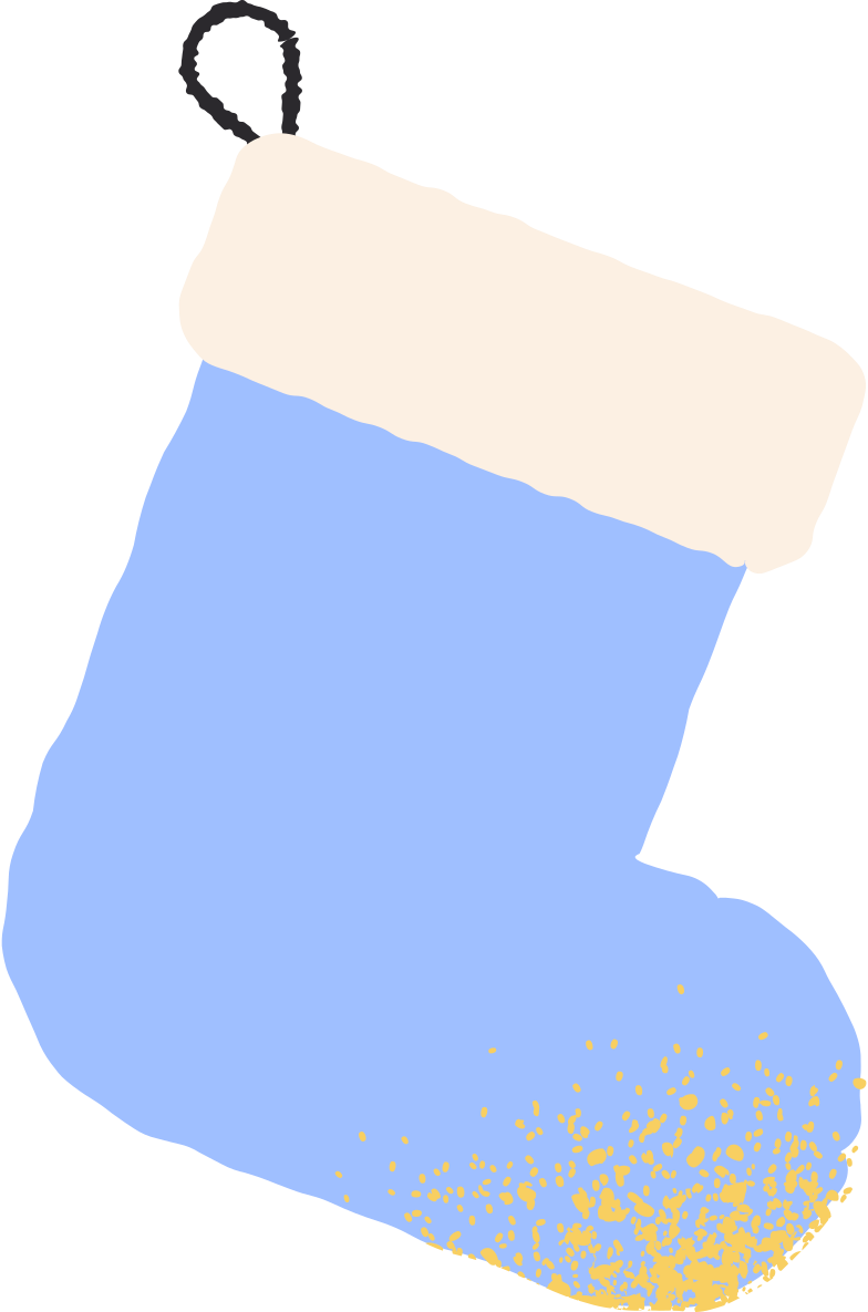 blue stocking Clipart illustration in PNG, SVG