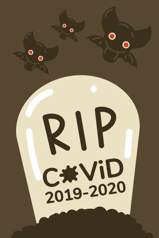 RIP COVID-19 Clipart illustration in PNG, SVG