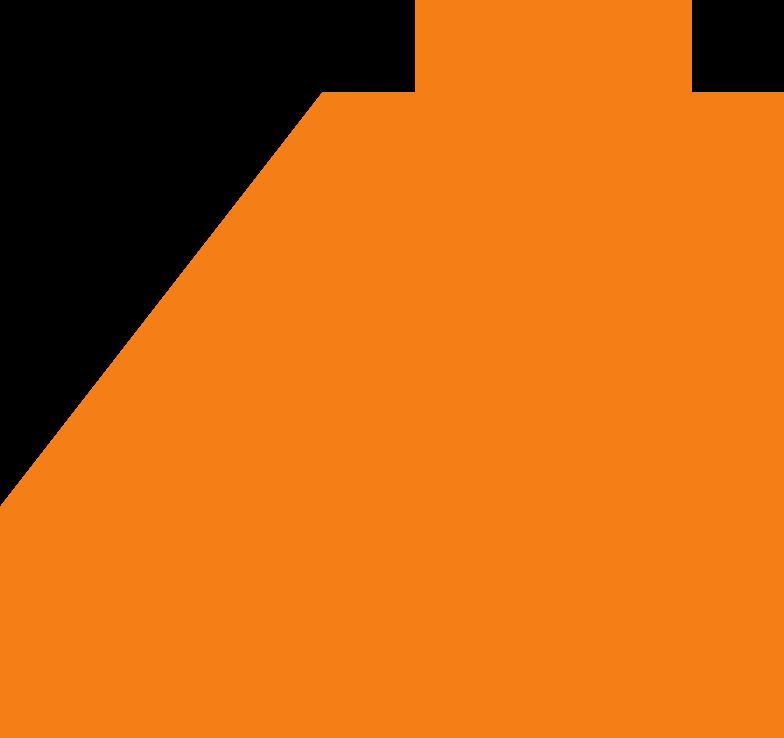 building block orange Clipart illustration in PNG, SVG