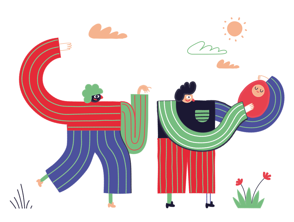Family Clipart illustration in PNG, SVG