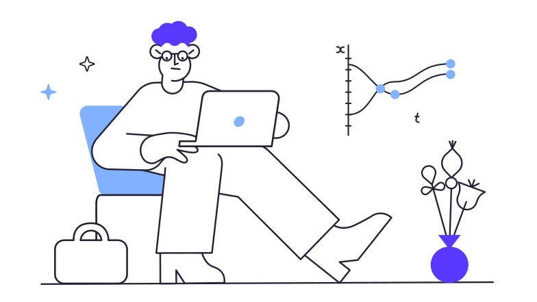 Work on a computer Clipart illustration in PNG, SVG