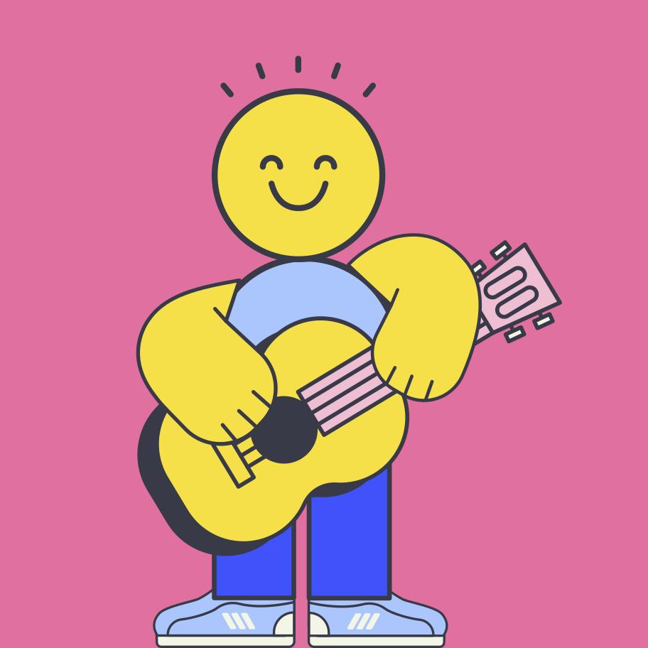 Guitar player Clipart illustration in PNG, SVG