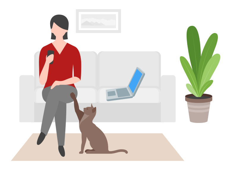 Work from home Clipart illustration in PNG, SVG