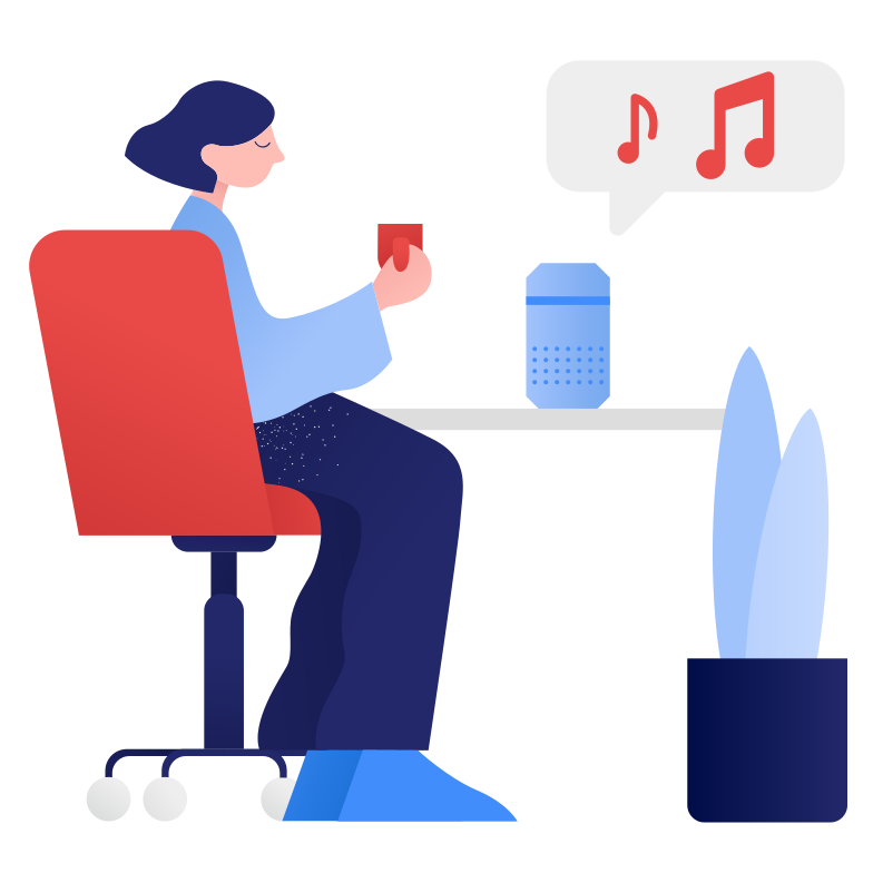 style Smart speaker- playing music Vector images in PNG and SVG | Icons8 Illustrations