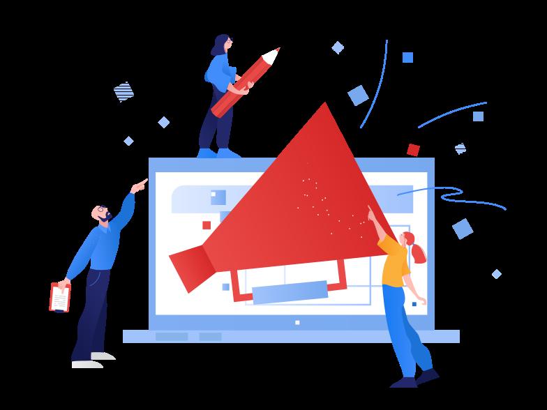 Online advertising, smm Clipart illustration in PNG, SVG