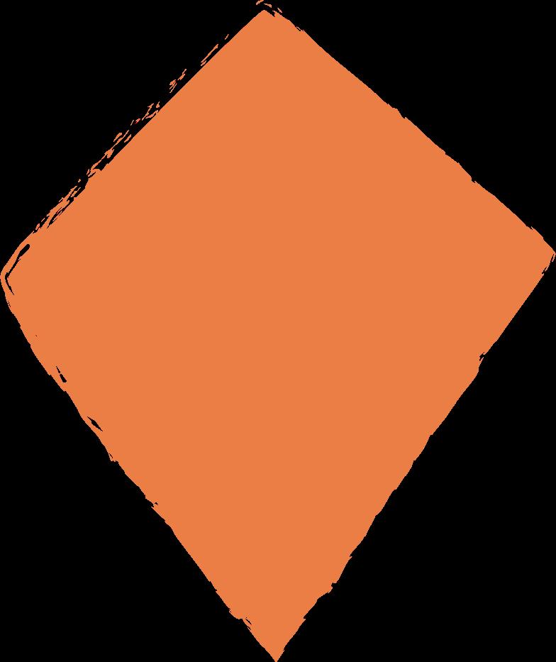 kite-orange Clipart illustration in PNG, SVG