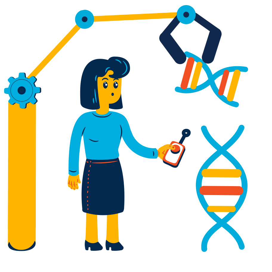 Research using technology Clipart illustration in PNG, SVG