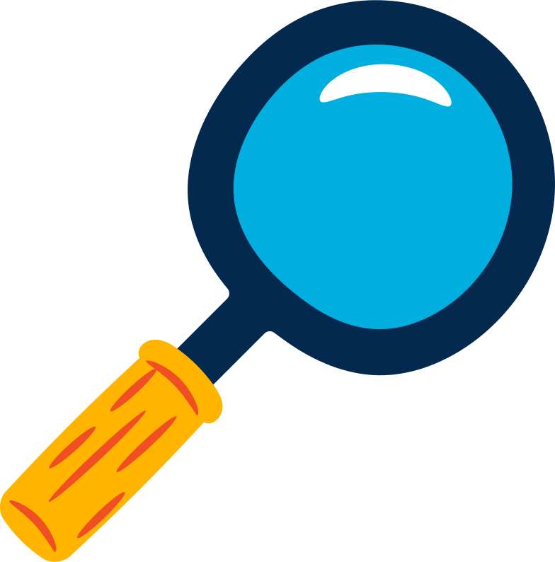 magnifying glass Clipart illustration in PNG, SVG