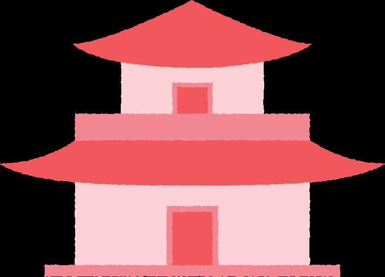 Pagode kurz mit türen Clipart-Grafik als PNG, SVG