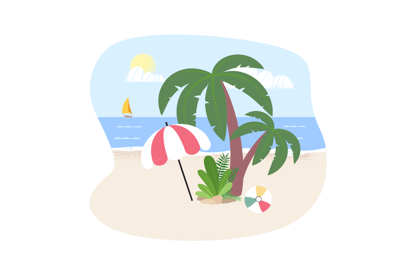 Dream island Clipart illustration in PNG, SVG