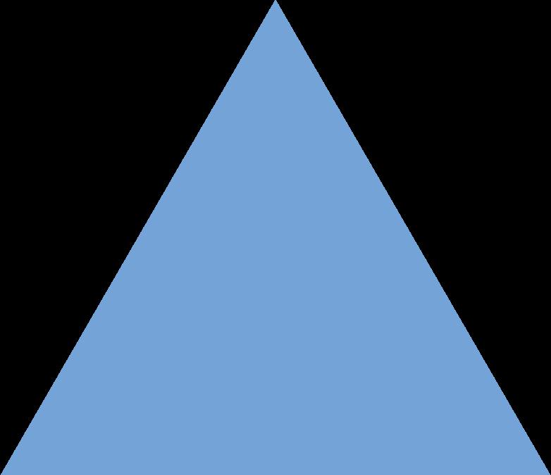 trangle blue Clipart illustration in PNG, SVG