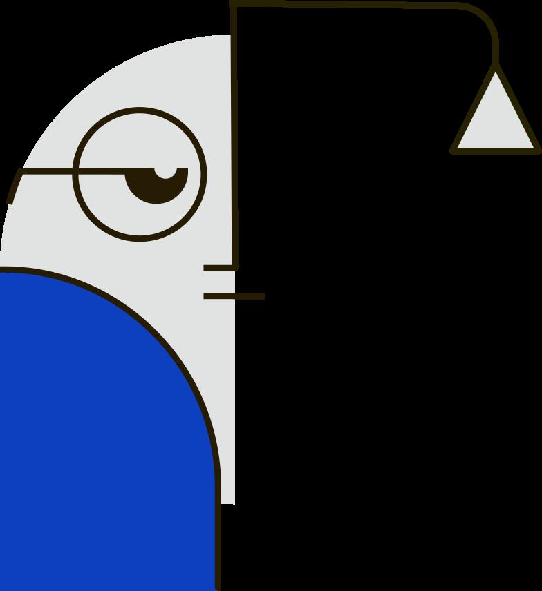 blue man Clipart illustration in PNG, SVG
