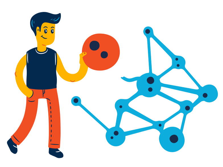Neural connections Clipart illustration in PNG, SVG