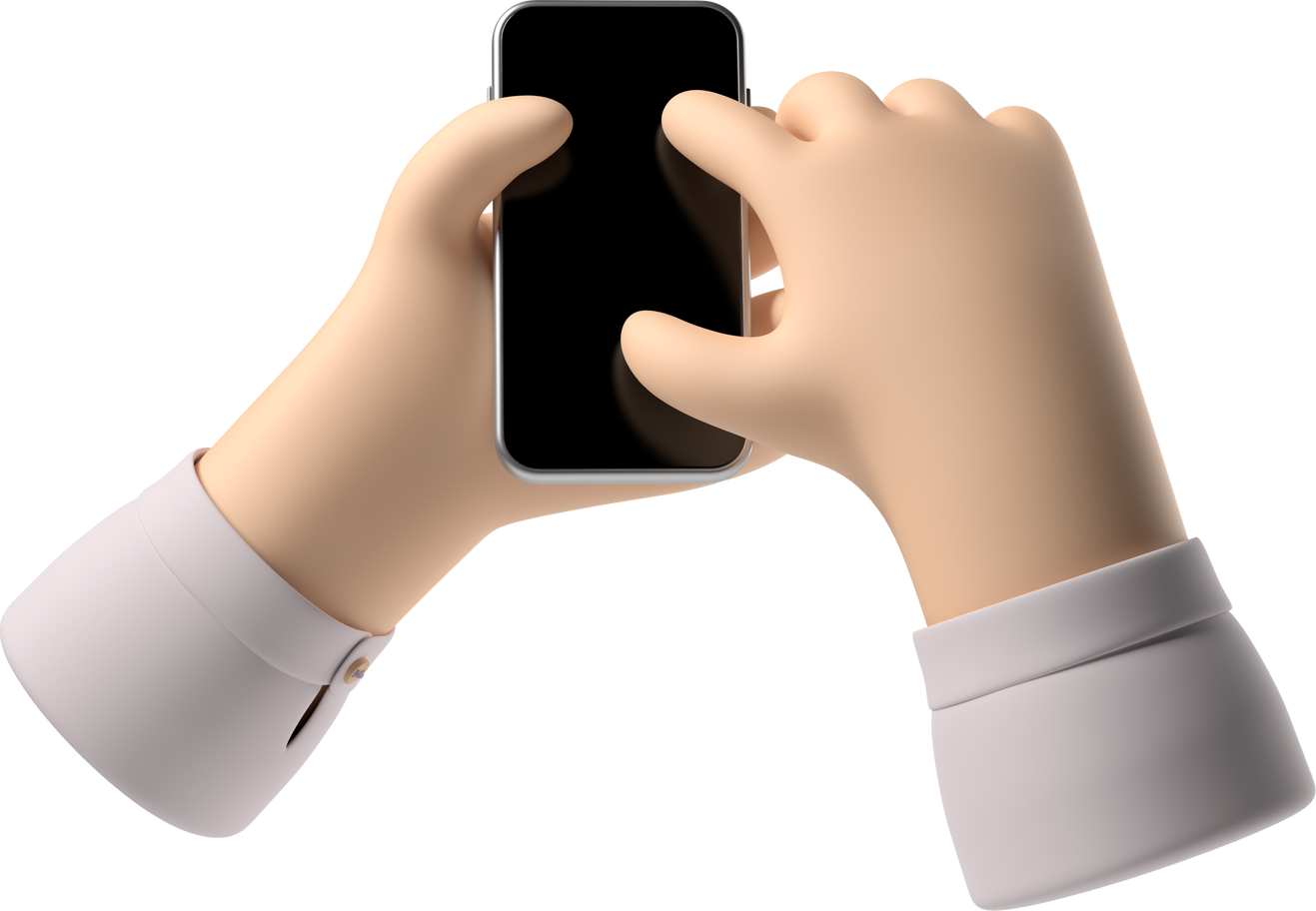 hands with phone Clipart illustration in PNG, SVG