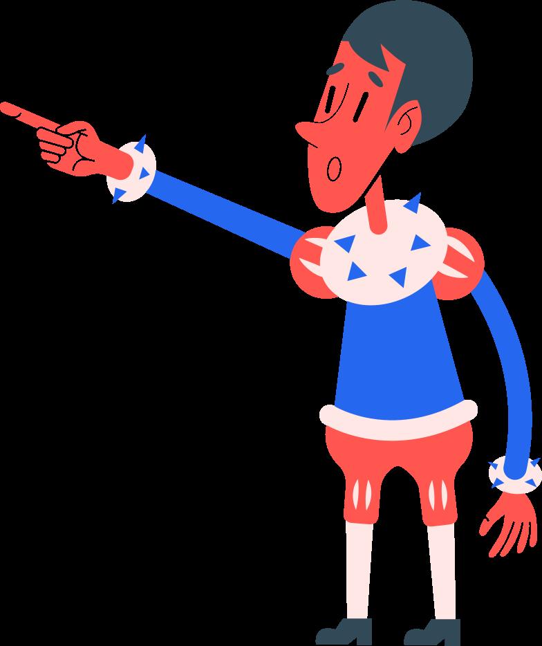 boy shows Clipart illustration in PNG, SVG