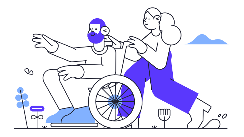 Help and care Clipart illustration in PNG, SVG