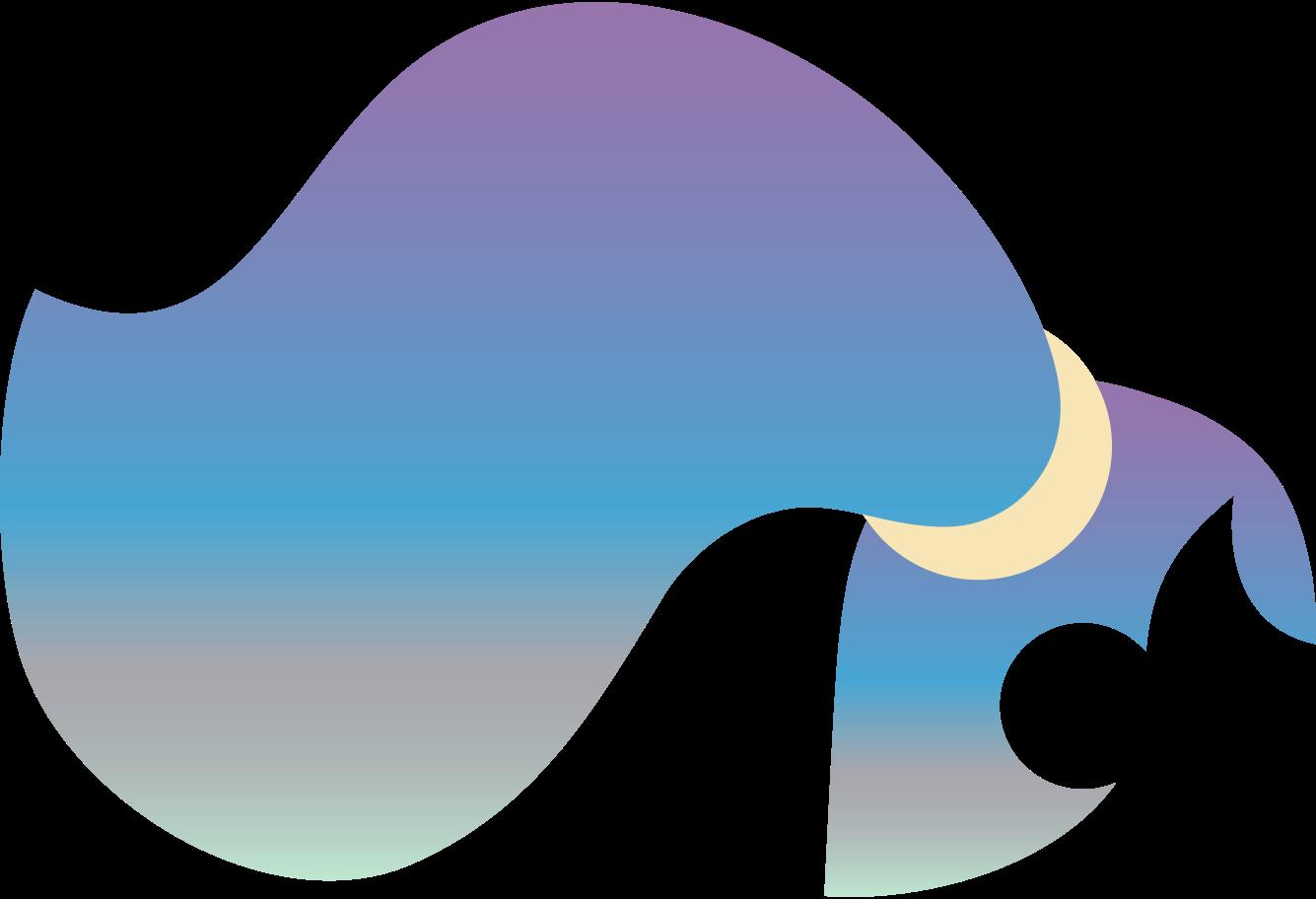 ponytail side parting gradient back Clipart illustration in PNG, SVG