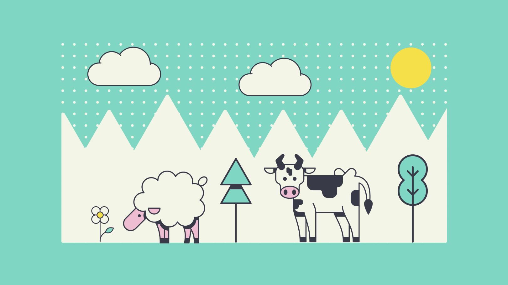 Pasture Clipart illustration in PNG, SVG