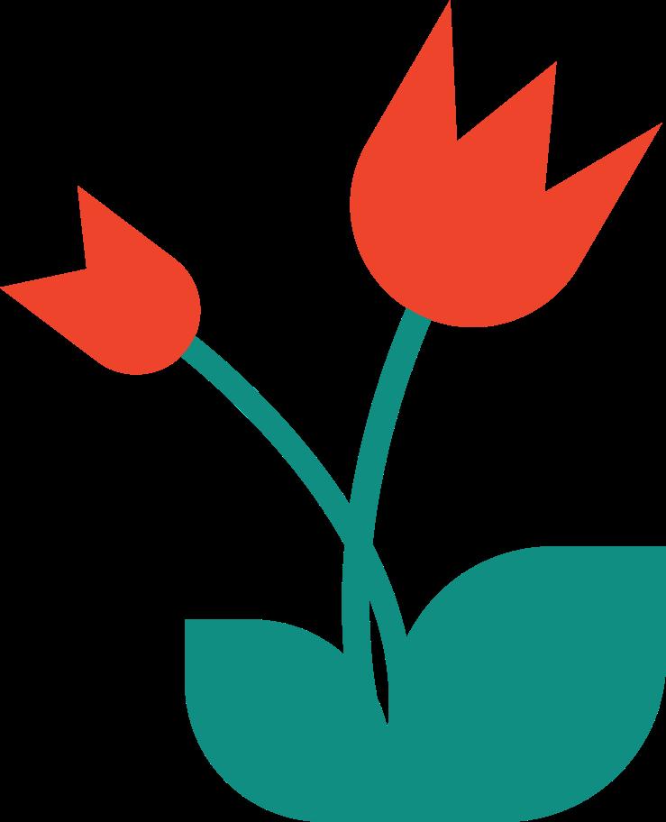 tulip Clipart illustration in PNG, SVG