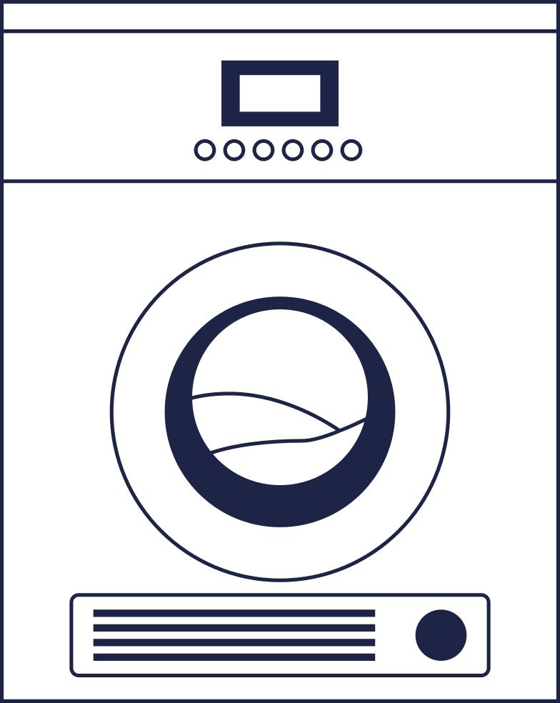 washer 1 line Clipart illustration in PNG, SVG