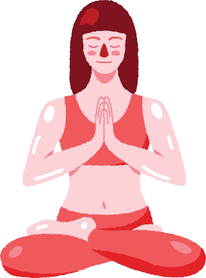 meditating woman Clipart illustration in PNG, SVG