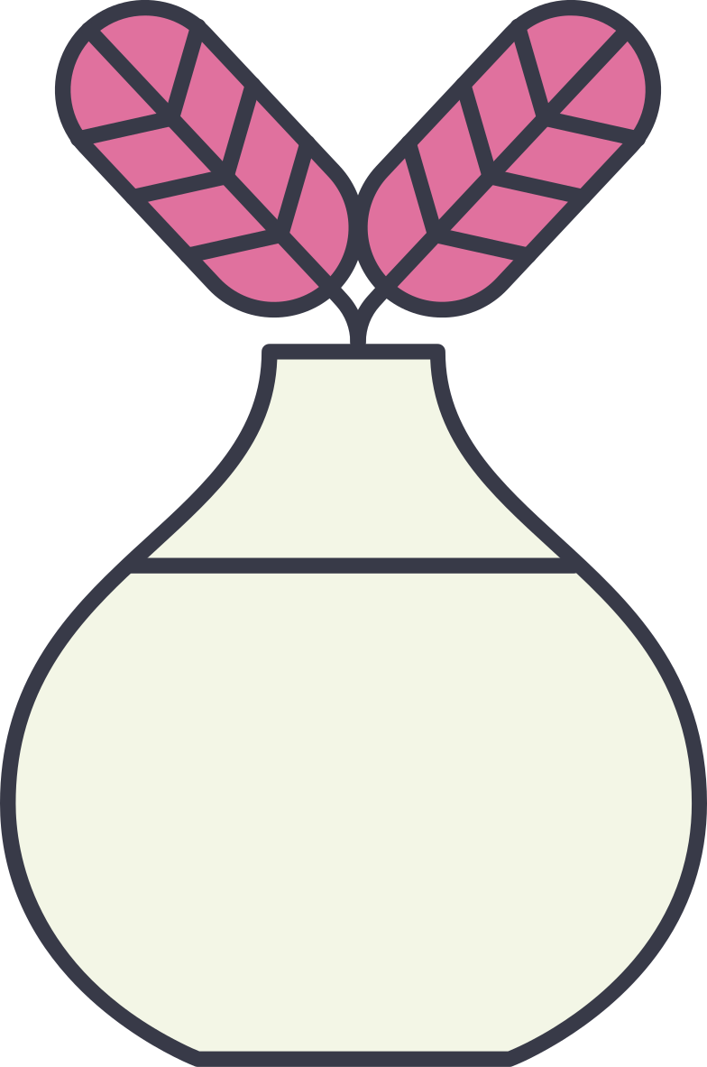 vase with flowers Clipart illustration in PNG, SVG
