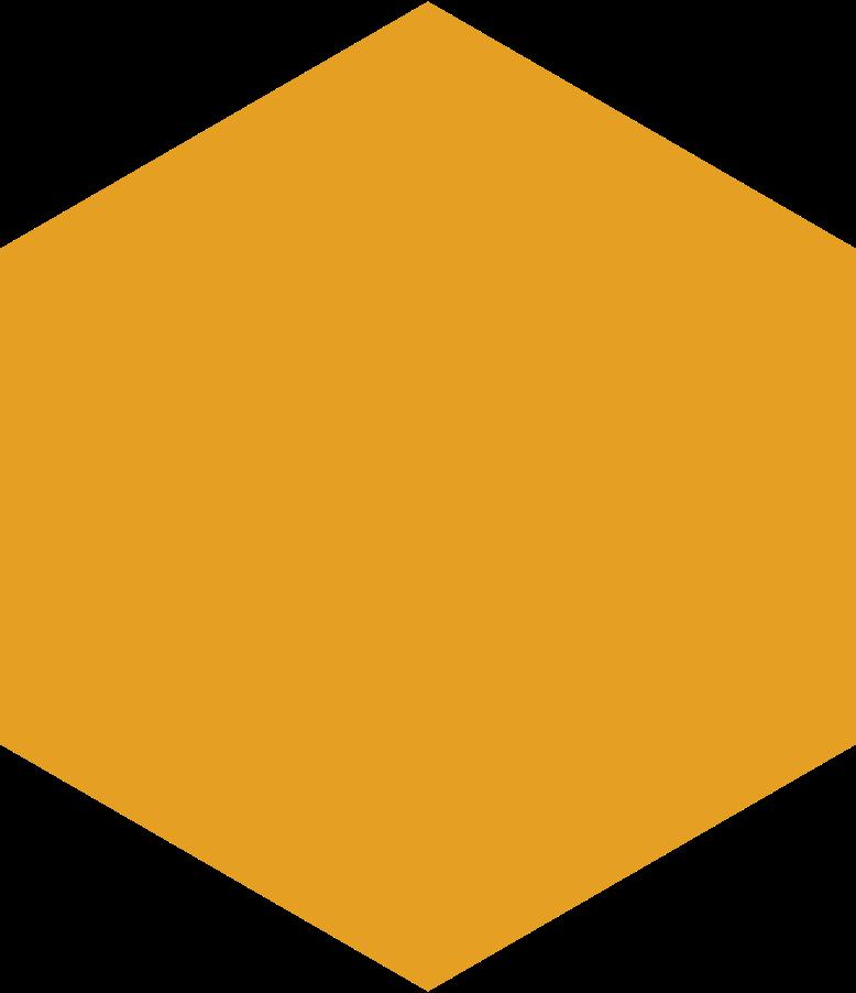 Sechseck orange Clipart-Grafik als PNG, SVG