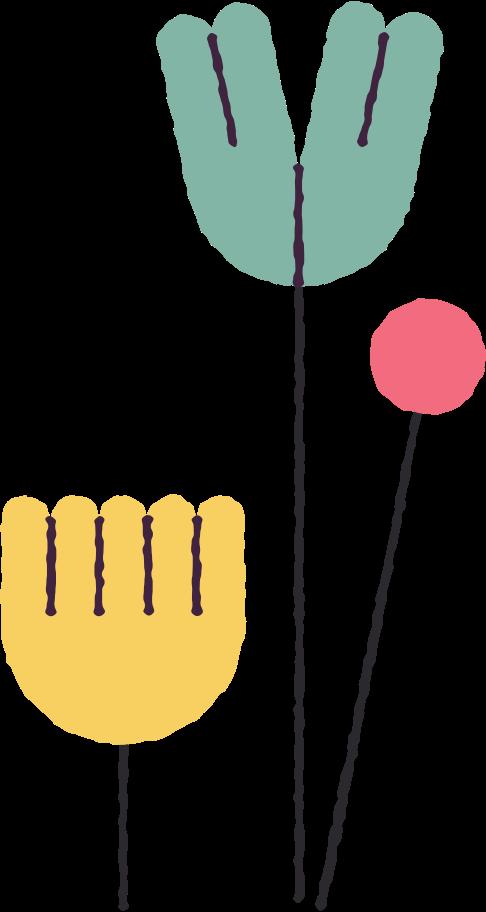 Ilustración de clipart de Flores en PNG, SVG