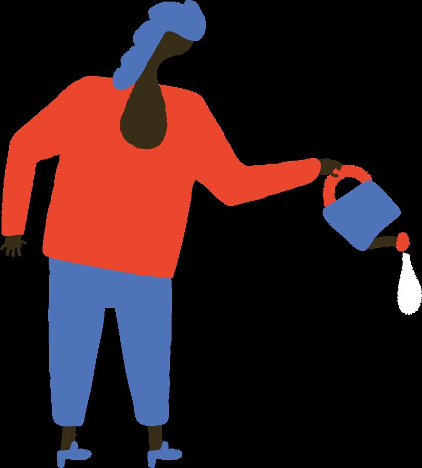 Frau mit gießkanne Clipart-Grafik als PNG, SVG