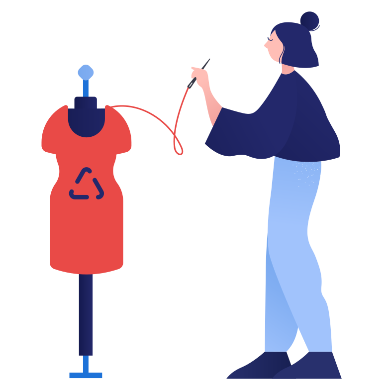 Recycling clothes Clipart illustration in PNG, SVG