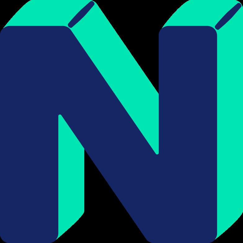 letter n Clipart illustration in PNG, SVG