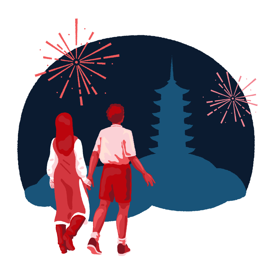 Celebrate Chinese New Year together Clipart illustration in PNG, SVG