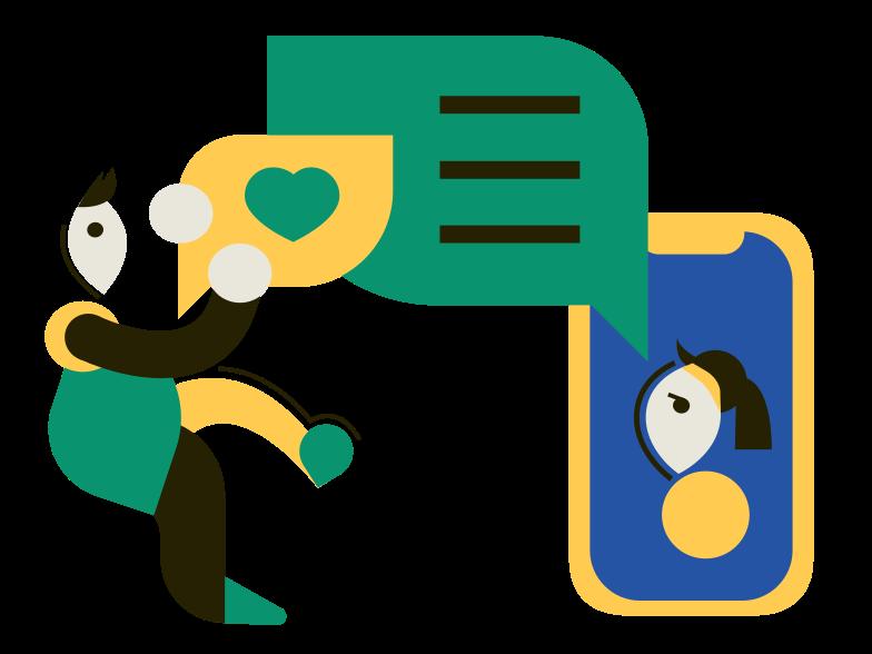 Messenger Clipart illustration in PNG, SVG