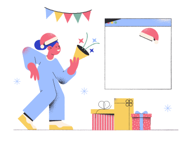 style Online Christmas party images in PNG and SVG | Icons8 Illustrations