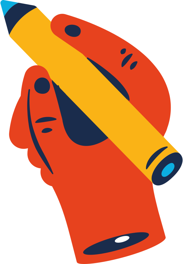 hand with pencil Clipart illustration in PNG, SVG