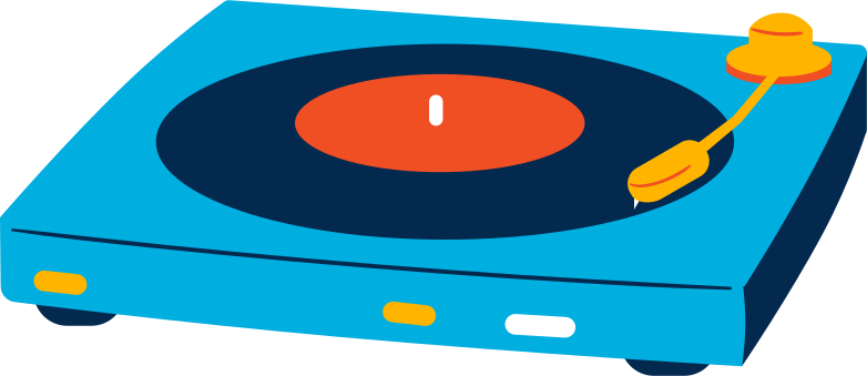 vinil record player Clipart illustration in PNG, SVG