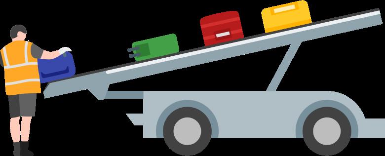 baggage loader Clipart illustration in PNG, SVG