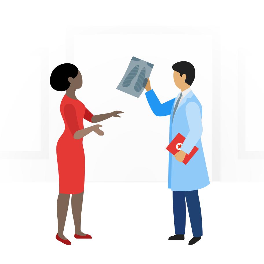Ilustración de clipart de Cita con el médico en PNG, SVG