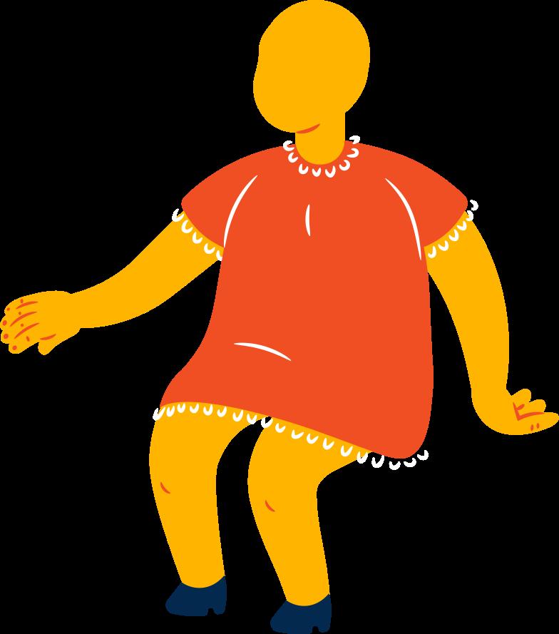fat girl sitting Clipart illustration in PNG, SVG