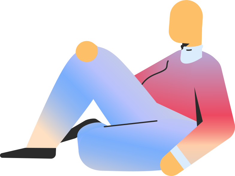 chubby adult sitting Clipart illustration in PNG, SVG