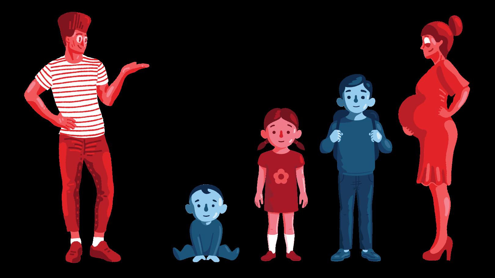 Grande família Clipart illustration in PNG, SVG