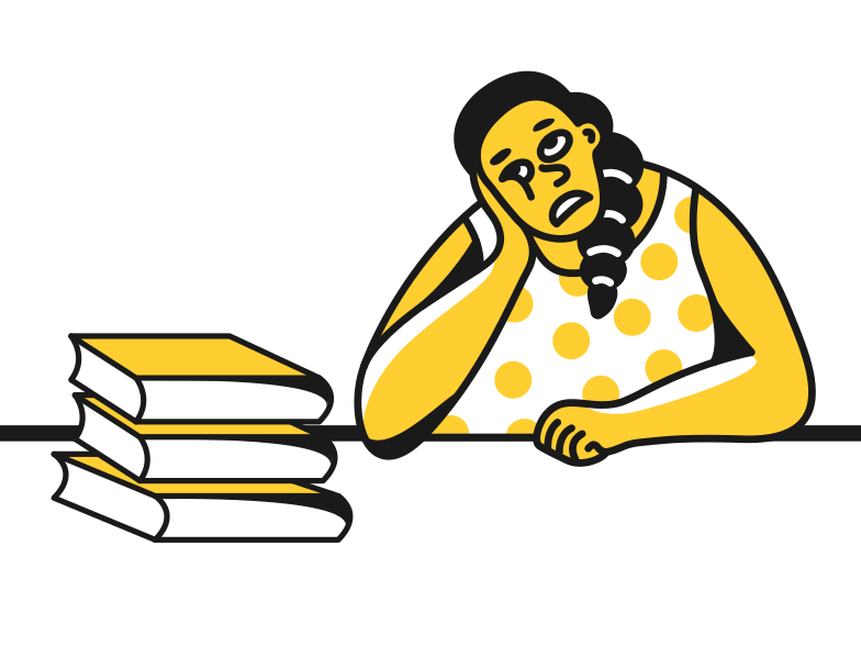 Studying Clipart illustration in PNG, SVG