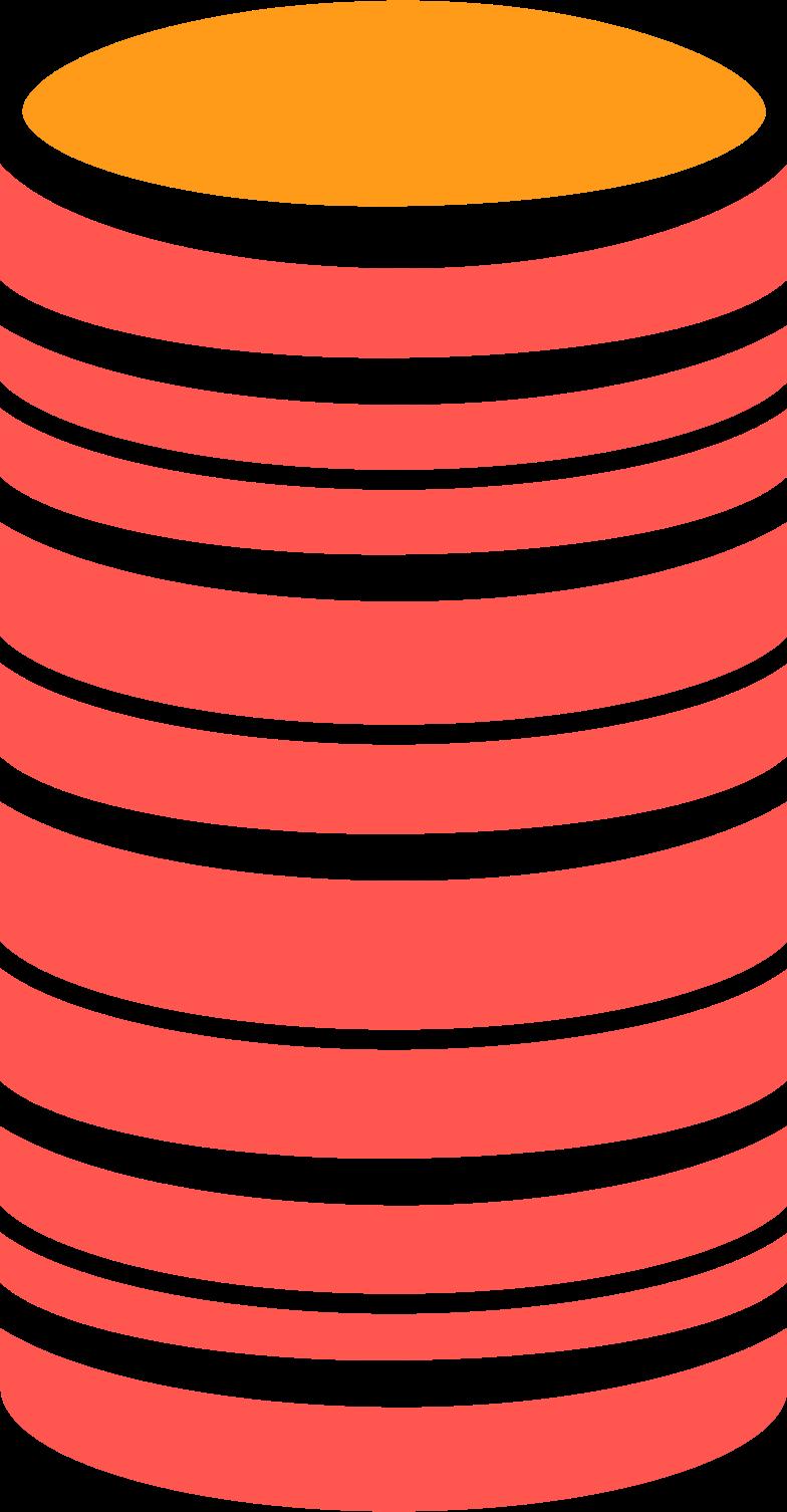 Ilustración de clipart de coins en PNG, SVG