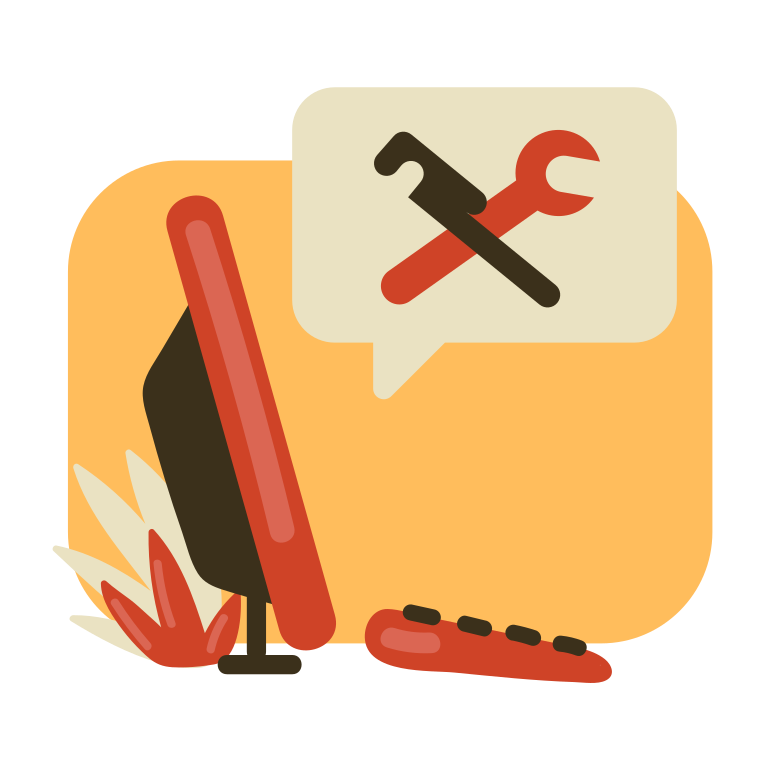 Computer repair Clipart illustration in PNG, SVG