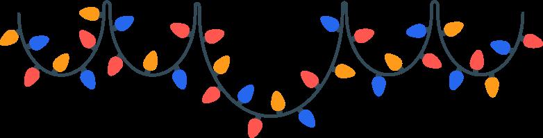 Ilustração de clipart de garland em PNG e SVG