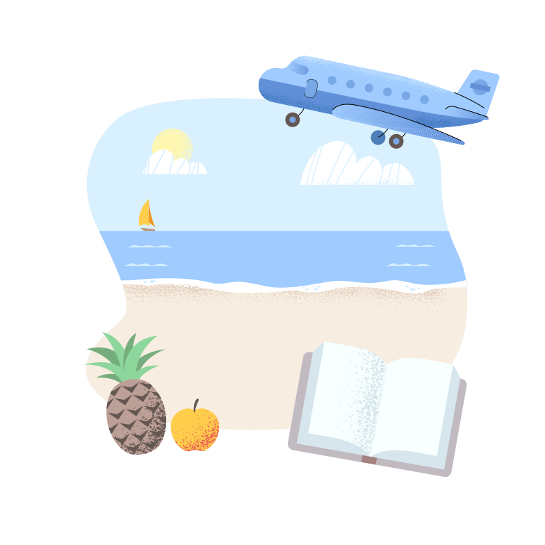 Summer diary Clipart illustration in PNG, SVG