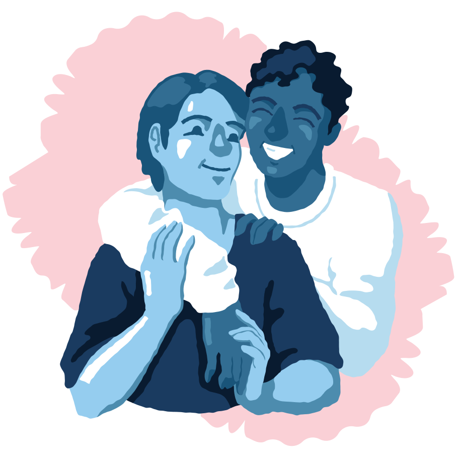 Best friends Clipart illustration in PNG, SVG