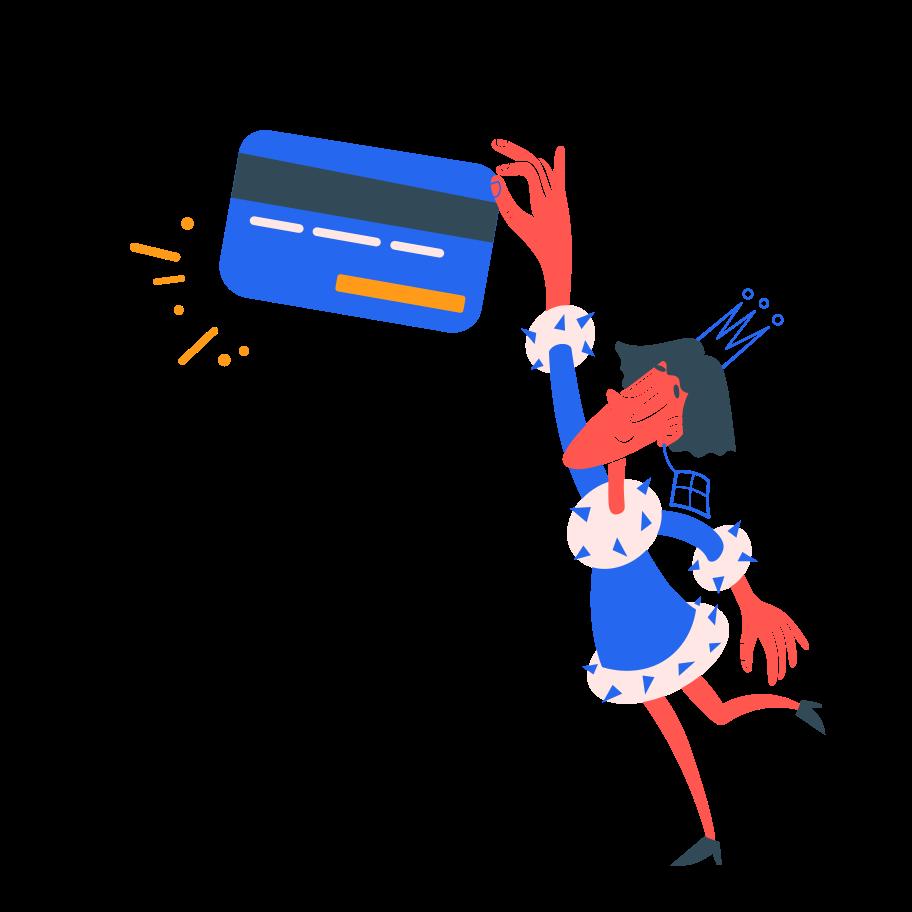 Ilustração de clipart de pagamento processado em PNG e SVG