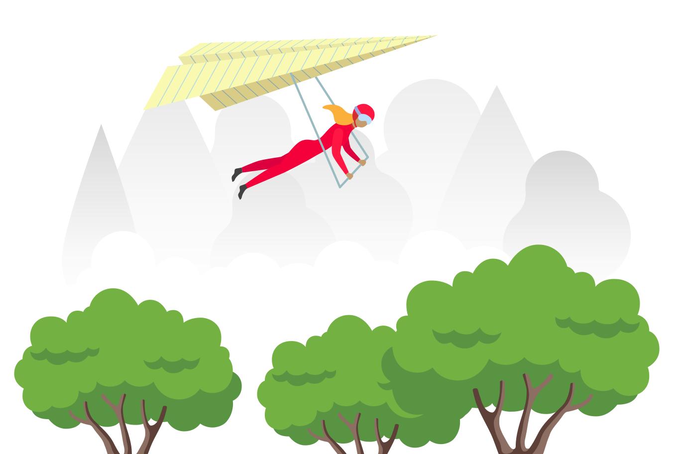 Deltaplan Clipart illustration in PNG, SVG