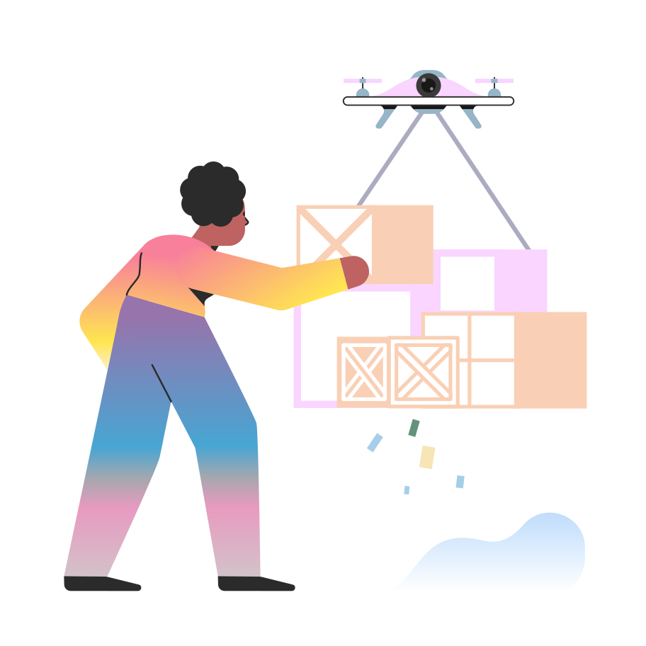 style Delivery drone Vector images in PNG and SVG | Icons8 Illustrations